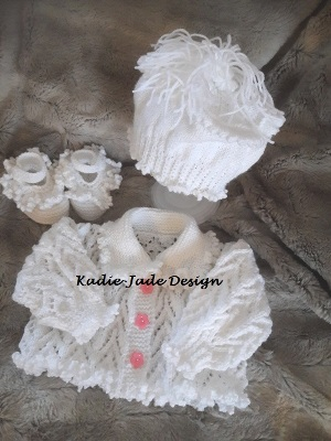 Hand knitted 3 piece Cardigan Set (67)